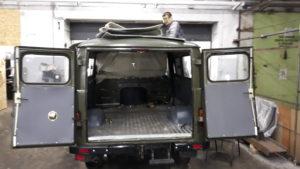 Люк для охоты на УАЗ Буханку (2)